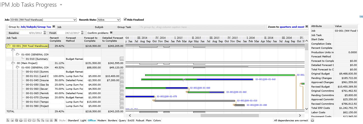 Ipm Gantt Chart Component Video